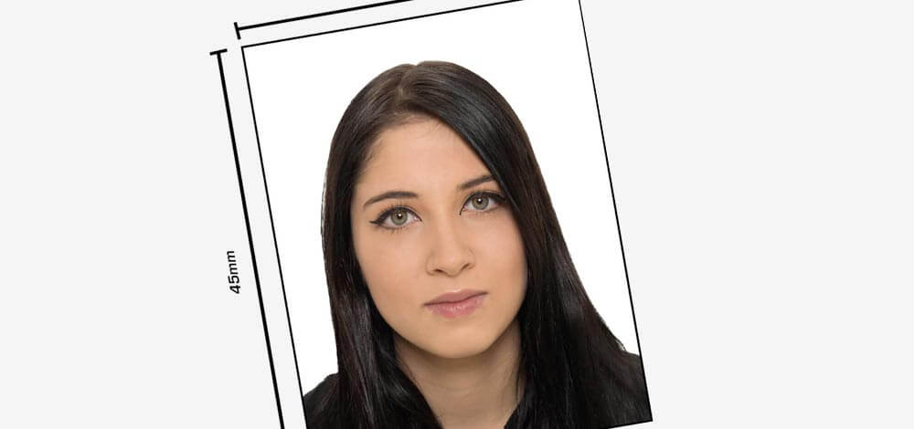 Für offizielle Ausweis oder Visa Fotos
